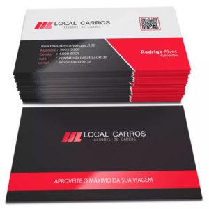 500 Cartões – 48x88mm Couchê 300g – Lamin Fosca – Verniz Local F/V – 4×4 Cores